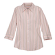 3/4 Length Striped Woven Shirts, One Size