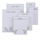 Personalized Flower Notepad Refill, Set of 6, One Size, Black