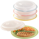 Divided Plates And Food Storage Containers - Set Of 4, One Size, Multicolor