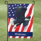 Welcome Patriotic Eagle Garden Flag, One Size