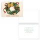 Butterfly Wreath Embossed Christmas Card - Set of 20, One Size, Multicolor