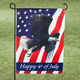 Happy 4th Patriotic Eagle Garden Flag, One Size