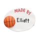 Personalized Basketball Magnet, One Size