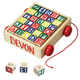 Personalized Wooden Blocks and Cart, One Size