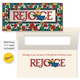 Rejoice Christian Non Personalized Christmas Card Set of 20, One Size