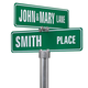 Personalized One Sided Street Sign, One Size