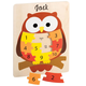 Personalized Wood Owl Number Puzzle, One Size