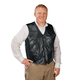 Patch Leather Vest, One Size, Black