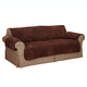 Chenille Loveseat Protector, One Size, Chocolate