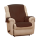 Chenille Recliner Protector, One Size, Chocolate