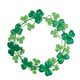 Metal Shamrock Wreath by Maple Lane Creations, One Size