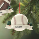 Personalized Sports Ball Ornaments, White