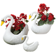Swan Planters Set of 3, One Size