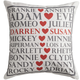 Personalized Famous Couples Pillow, One Size