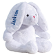Personalized White Plush Bunny, One Size, Blue