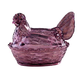 Amethyst Glass Hen Candy Dish
