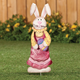 Metal Easter Bunny Girl Stake by Maple Lane Creations, One Size