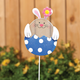 Glitter Bunny Lawn Stake, One Size