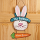 Personalized Metal Easter Bunny Door Hanger, One Size
