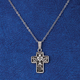 Silver Communion Cross Necklace, One Size