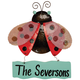 Personalized Ladybug Door Hanger by Maple Lane Creations, One Size