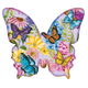 Butterfly Garden Shaped Puzzle - 640 Pieces, One Size