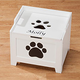 Personalized Paw Wooden Toy Box For Dogs