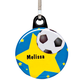 Personalized Soccer Zipper Pull, One Size