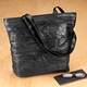 Patch Leather Travel Tote