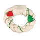 Braided Wreath Christmas Rawhide Treat