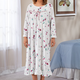 Rose Knit Nightgown, One Size