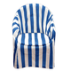 Striped Patio Chair Cover with Cushion, One Size