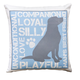 Dog Lover's Pillow, One Size, Blue