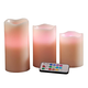 Color-Changing LED Candles, Set of 3 plus Remote, One Size