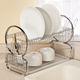 Two-Tier Compact Dish Rack, One Size