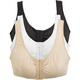 Front Closure Leisure Bras - Pack of 3, One Size, White/Black/Beige