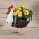 Metal Rooster Planter by Maple Lane Creations, One Size