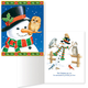 Snowman and Owls Non Personalized Christmas Card Set of 20, One Size