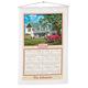 Americana Farmhouse Personalized Calendar Towel, One Size