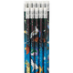 Space Galaxy Pencils - Set of 12, One Size