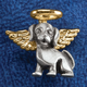 Dog Angel Pin, One Size