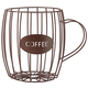 Coffee Cup Wire Basket, One Size