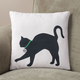 Personalized Stretching Cat Silhouette Pillow, One Size