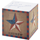 Personalized Barn Star Self Stick Note Cube, One Size