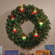 Bubble Light Wreath by Northwoods Greenery, One Size
