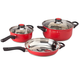 5 pc Red Stainless Cookware Set by Home-Style Kitchen™, One Size