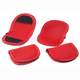 Red Pot Handle Holders, Set of 4, One Size