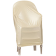 Beige Stacking Chair Cover, One Size