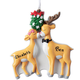 Personalized Kissing Reindeer Couple Ornament, One Size
