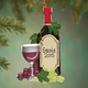 Personalized Wine Bottle Ornament, One Size